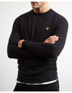 Cotton Merino Crew Jumper True Black