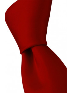 Plain Microfiber Tie Red