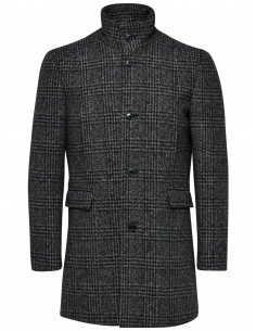 SLHMOSTO WOOL COAT B NOOS Grey/BLACK