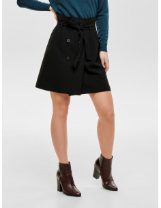 JDYJULIE CHECKED HW WRAP SKIRT WVN FS Black