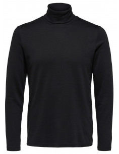 SLHROCKY LS ROLL NECK TEE B Black