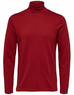 SLHROCKY LS ROLL NECK TEE B Sun-Dried Tomato