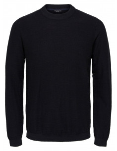 SLHPAGE CASHMERE CAMP CREW NECK B Black