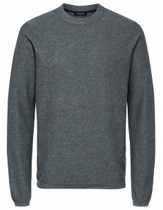 SLHPAGE CASHMERE CAMP CREW NECK B Grey