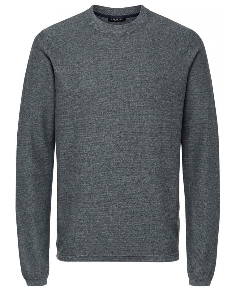 SLHPAGE CASHMERE CAMP CREW NECK B Grey
