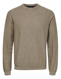 SLHPAGE CASHMERE CAMP CREW NECK B Sand