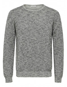 SLHANDREW CAMP CREW NECK W Black
