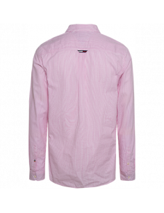 TJM SEERSUCKER SHIRT Fuchisa purple classic white