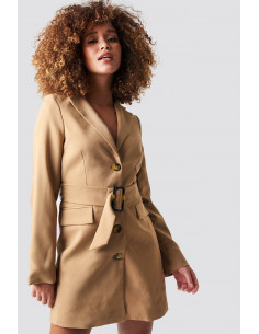 Wide belted blazer dress Begie