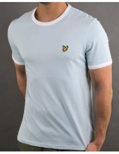 Ringer T-Shirt Blue shore/snow white