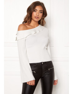 Signe knitted top White