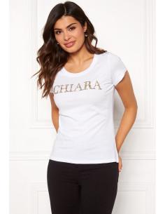 Chiara sparkle tee White/Silver/Gold