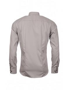 Carl Poplin Shirt Grey