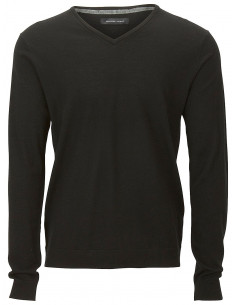 SHDTOWER MERINO V-NECK NOOS Black