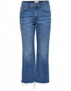 onlCHAD HW STRAIGHT  CROP DNM JEANS CRY Medium Blue Denim