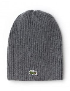 Lacoste Ribbed Wool Beanie Galaxite Chine