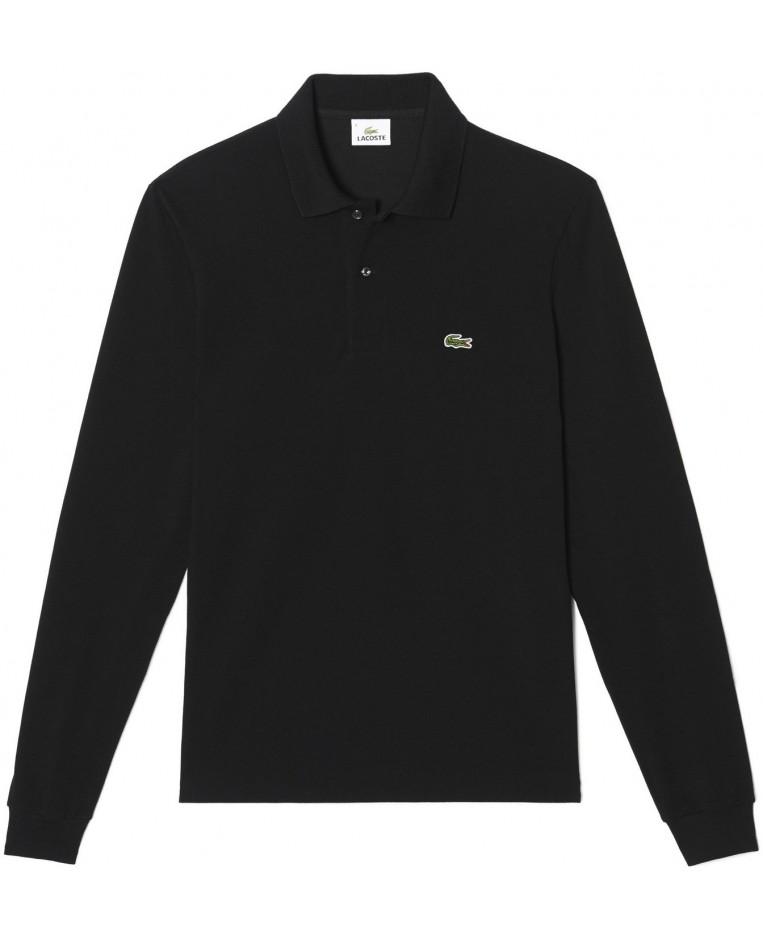 866b5ea8 Lacoste Long-sleeve Polo Black L1312-00-031