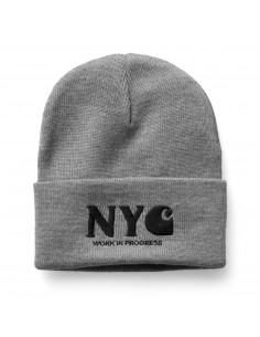 NYC Beanie Grey Heather/Black