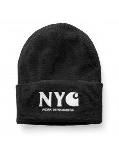 NYC Beanie Black/White
