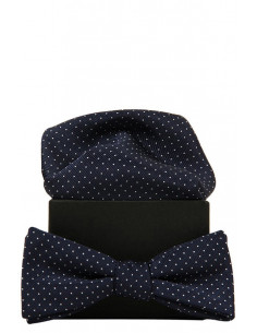 Zachery Polka Dots Bowtie Blue/White