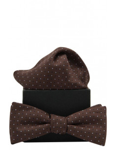 Polka Dots Bowtie Brown