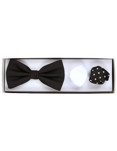 Plain Bowtie Black/White