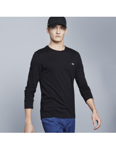 Lacoste High Neck Cotton Jersey T-shirt Black