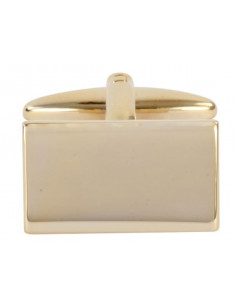 Shiny Plain Rectangle Gold Plated Cufflinks