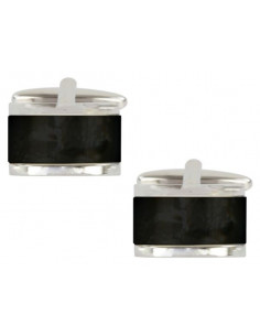 Onyx Domed Rectangle Cufflinks