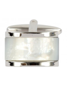 Mother of Pearl Domed Rectangle Cufflinks