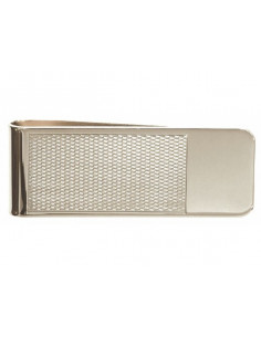 Money Clip Rhodium Plated Barley Design with Plain End