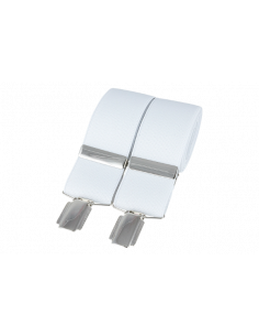 White Plain 35mm Silver Clip Braces
