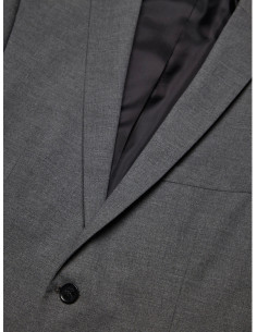 Slim Fit Kavaj Grey