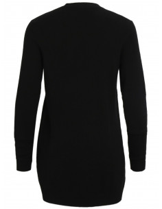 VIRIL L/S  OPEN KNIT CARDIGAN-NOOS Black