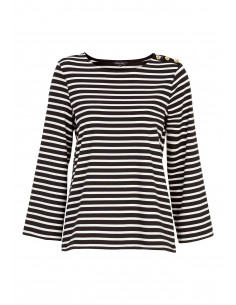 Alex top Black / Offwhite