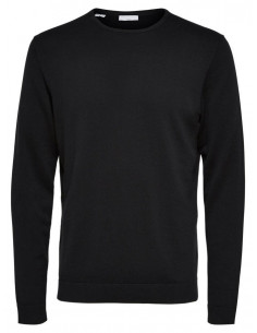 SHDTOWER COT/SILK CREW NECK NOOS Black