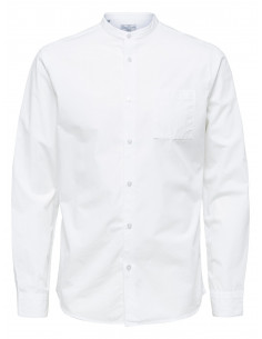 SHDTWOCRISP-CHINA SHIRT LS SOLID White