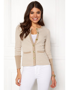Calla cardigan Light mole / Striped