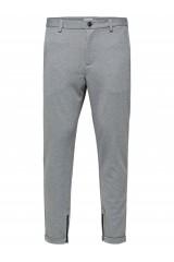 SHXALEX STRUCTURE L.GREY MIX  ZIP PANTS Light Grey Melange