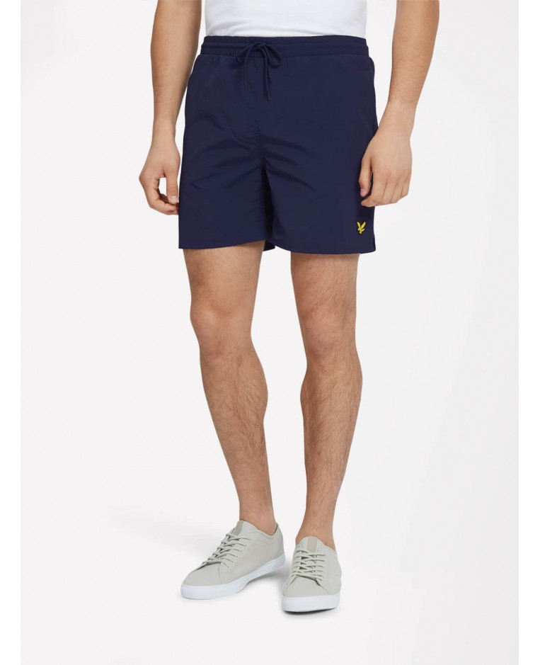 8cc6ae6163522 Plain Swim Short Navy Lyle & Scott Badbyxor Badshorts shorts SH806V