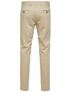 SLH MATHCOT SAND SLIM FIT TROUSER