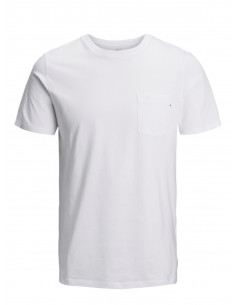JJEPOCKET TEE SS O-NECK NOOS White