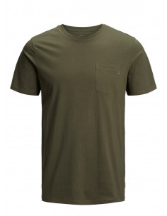 JJEPOCKET TEE SS O-NECK NOOS Olive Night