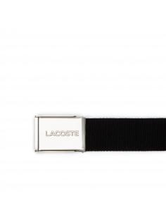 Lacoste Engraved Buckle Woven Belt