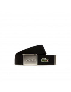 Lacoste Engraved Buckle Woven Belt