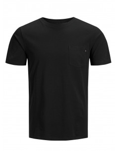 JJEPOCKET TEE SS O-NECK NOOS Black/SLIM FIT