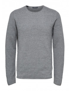 SLHROCKY CREW NECK B NOOS Medium Grey Melange
