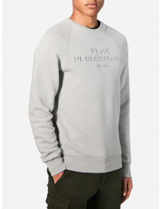 Peak LOGO Cotton Blend Sweatshirt Mortar Grey