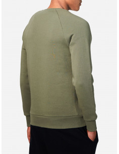 Peak LOGO Cotton Blend Sweatshirt Leaflet Green