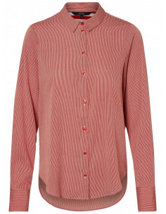 VMNICKY L/S MIDI SHIRT D2-6 Snow White/KETCHUP THIN STRIPE